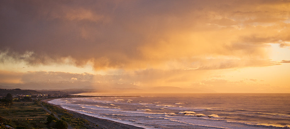 Evening Light over Greymouth