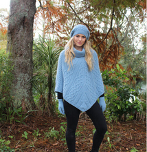 Load image into Gallery viewer, Made in New Zealand, Shop Local, Lothlorian, Alpaca, NZ , Poncho, gloves, beanie,