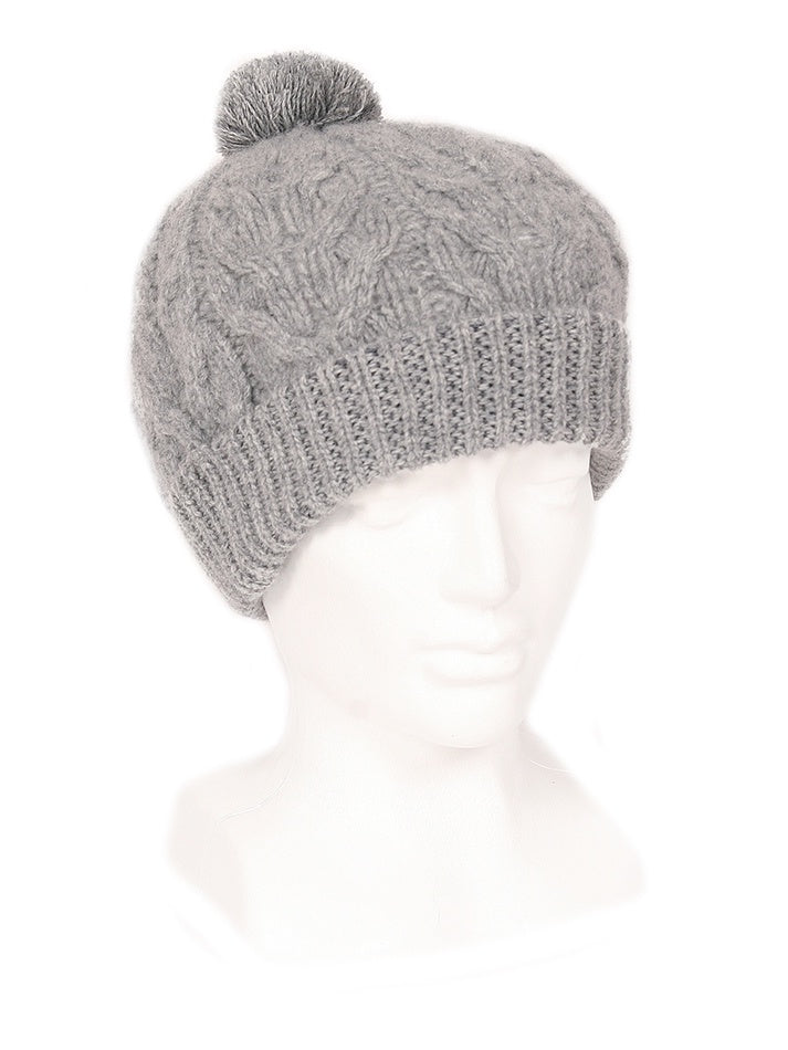 Lothlorian Beanie, pompom, Made in New Zealand, 100% Merino Lambswool