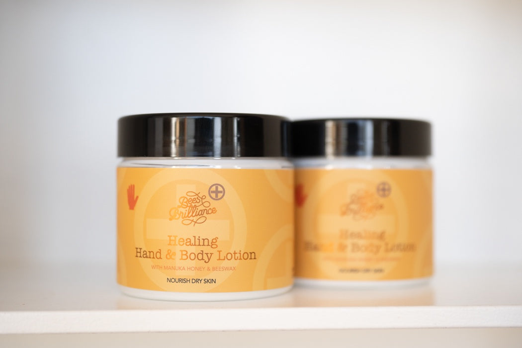 Bees Brilliance, Skincare, Manuka Honey, Healing Hand and Body Lotion, Cream, New Zealand made,