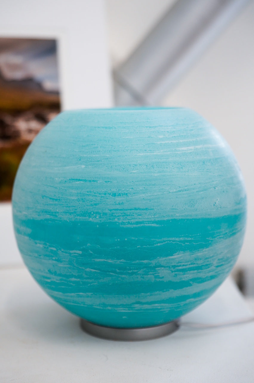 Large Globe Lamp - Blue