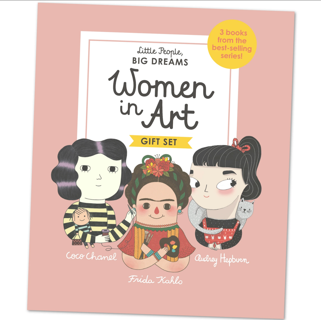 Women in Art, Box Set, Gift Set, Coco Chanel, Frida Kahlo, Audrey Hepburn, Little People Big Dreams, Book, Childrens Book, Shop Local,