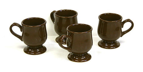 4 Piece 10 Oz. Cocoa Pedestal Mug Set by Hues & Brews