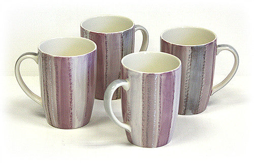 Hues & Brews Multi-color 4 Piece 14 Oz. Rose Quartz Style Mug Set - 5""