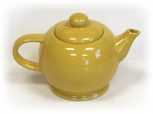 Hues & Brews Yellow 14 Oz. Sunflower Teapot For One - 6.5""