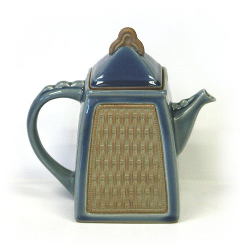 Hues & Brews Blue Siam Celadon 40 oz. Teapot - 8.5""