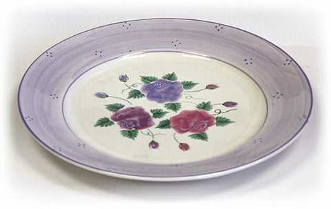 "Hues & Brews Multi-color 13"" Bella Rosa Ceramic Serving Platter - 13.13"""