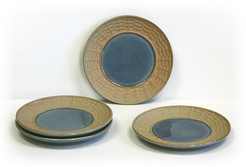 4 Piece Blue Siam Celadon Dessert & Snack Plates by Hues & Brews