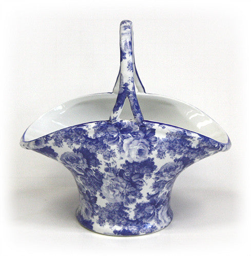 Laura Blue Porcelain Basket by Hues & Brews