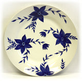Hues & Brews 4 Piece White/Blue Blossoms Plate Set 2