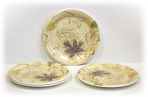 4 Piece Seasons Dinner Plate Set by Hues & Brews