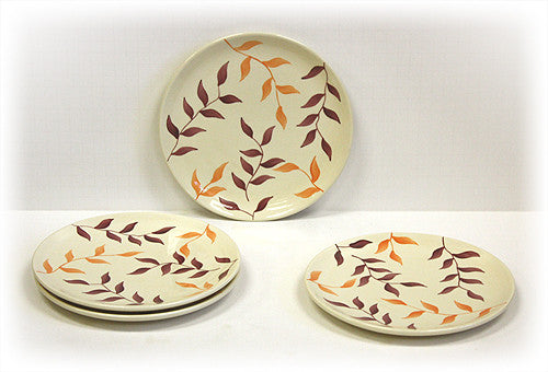 Hues & Brews 4 Piece Multi-Color Simplicity Dessert and Snack Plates 1