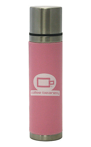 Hues & Brews 18 Oz. Pink Leather Bound Double Wall Stainless Steel Pour and Sip Tumbler 1