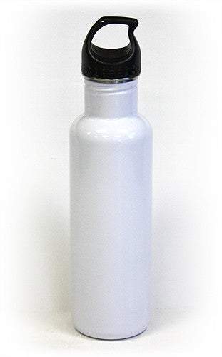 25 Oz. (750 ml) 18/8 Stainless Steel Water Bottle 2.0 by Hues & Brews - BPA Free, White