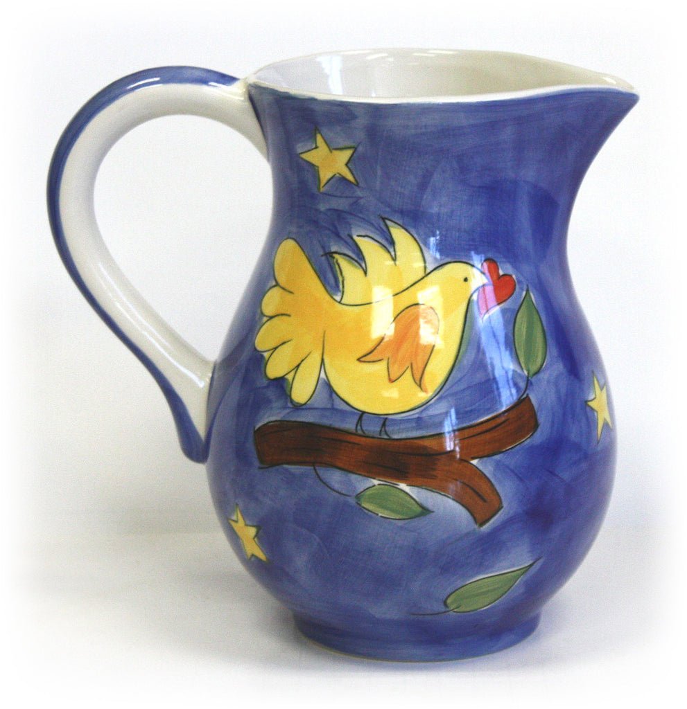 72 Oz.Yellow Bird Ceramic Pitcher by Hues & Brews