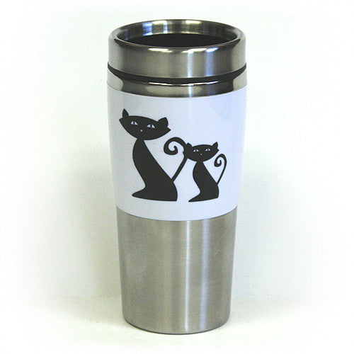Cattitude Double Wall Stainless Steel Travel Tumbler