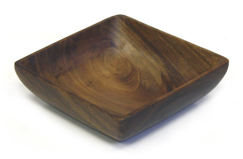 "9"" X  9"" Acacia Hardwood Square Bowl"