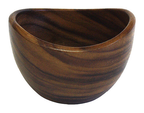 Mountain Woods Dark Brown Organic Artisan Acacia Wood Bowl 1