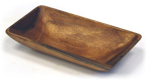"Mountain Woods 15"" X 8"" Artisan Crafted Organic Acacia Rectangular Serving / Salad Bowl"