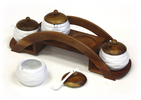 Condiment & Spice Jar Serving Set by Mountain Woods