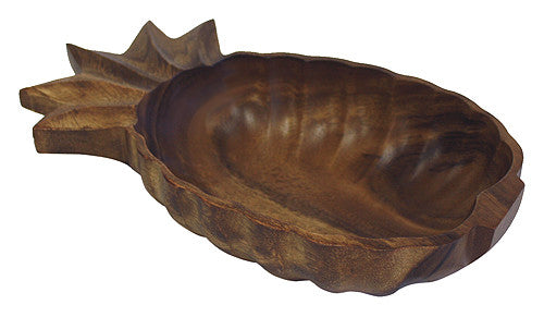 "Mountain Woods 13"" X 7"" Artisan Acacia Wood Pineapple Snack Serving Bowl / Tray"