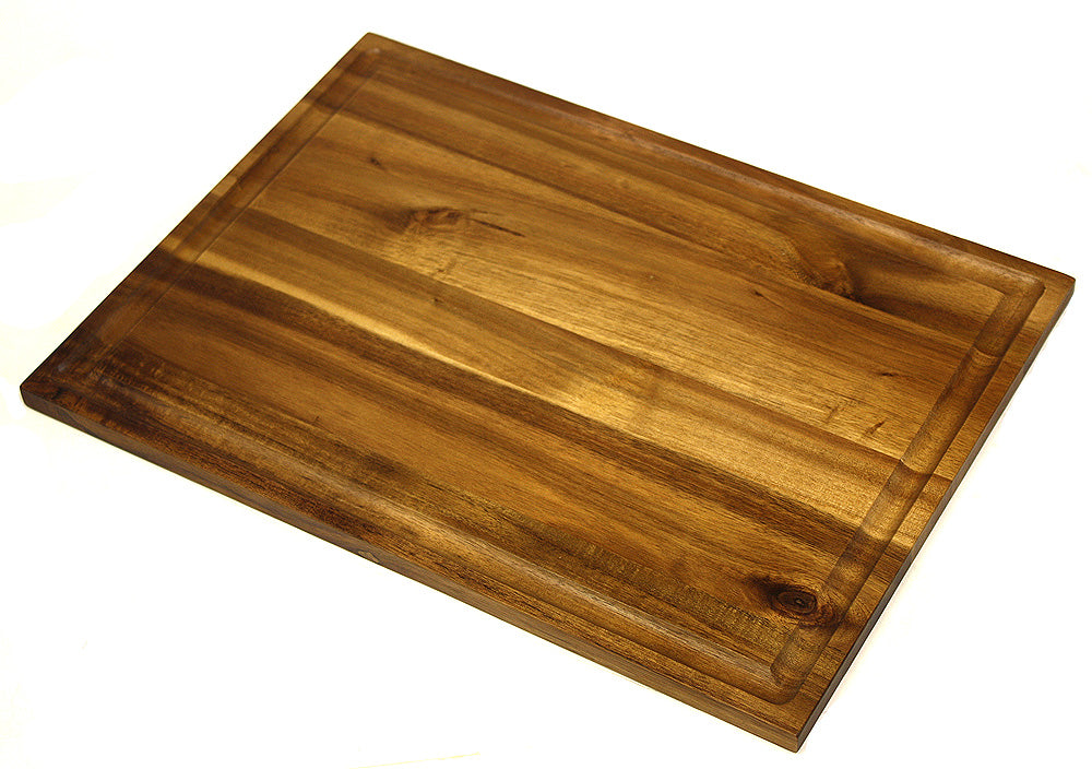 Mountain Woods Brown Organic Edge-Grain Hardwood Acacia Cutting Board w/ Juice Groove 1