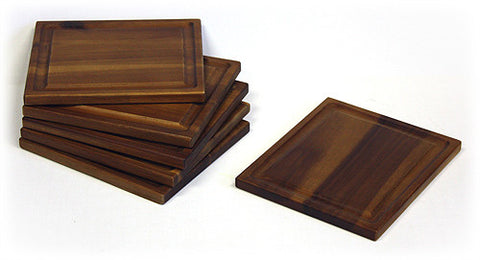 Mountain Woods Brown 6 Piece Acacia Wood Cutting Board Set 1