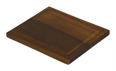 Mountain Woods Brown Organic Edge Grain Hardwood Acacia Cutting Board w/ Juice Grove 1