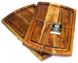 Mountain Woods Brown Extra Large Organic Hardwood Acacia Cutting Board w/ Juice groove 5