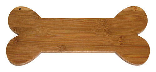APetProject Brown Bamboo Dog Bone Cutting Board 1