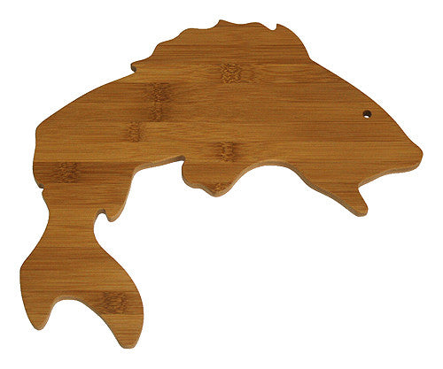 APetProject Mountain Woods PetProject Brown Bamboo Fish Cutting Board 1