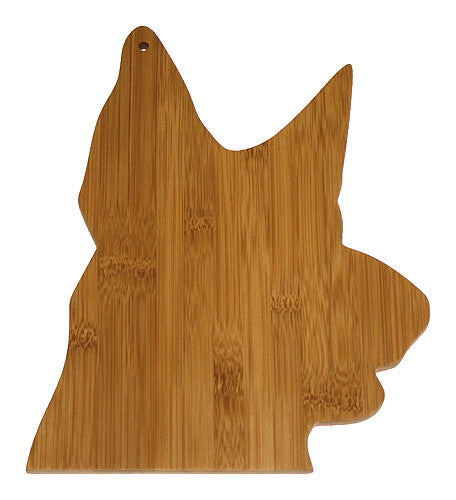 APetProject Bamboo German Shepherd Cutting Board