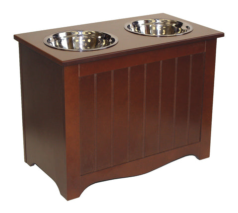 APetProject Large Chocolate Brown Pet Food Server & Storage Box *Also available in Winter White* - LIMIT 1 PER ORDER