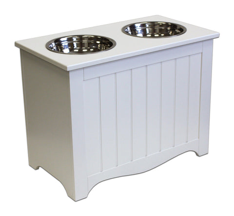 APetProject Large Winter White Pet Food Server & Storage Box *Also available in Chocolate Brown* - LIMIT 1 PER ORDER