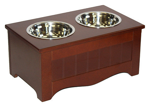 APetProject Small Chocolate Brown Pet Food Server & Storage Box *Also available in Winter White* - LIMIT 1 PER ORDER