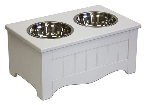 APetProject Small Winter White Pet Food Server & Storage Box *Also available in Chocolate Brown* - LIMIT 1 PER ORDER