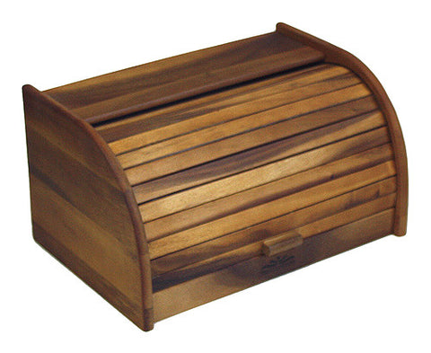 Mountain Woods Brown Bread Box and Storage Box with Rolltop Lid 1