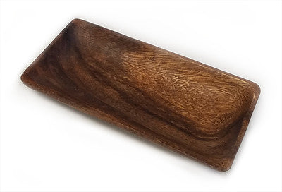 Mountain Woods Brown Acacia Hardwood Rectangular Bowl 1