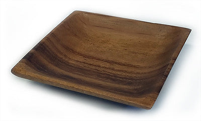 Mountain Woods Brown Acacia Hardwood Square Bowl 1