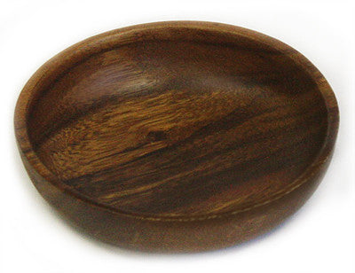 Mountain Woods Brown Acacia Hardwood Round Bowl 1