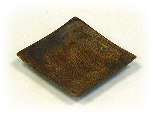 Mountain Woods Brown Square Organic Acacia Serving Plate 1