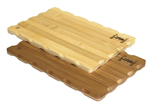 Simply Bamboo 2 Piece Brown Bar Cutting Board Set 1