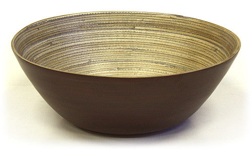"Simply Bamboo 14"" X 5"" Matte Espresso Bamboo Bowl"