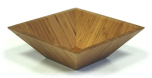 Simply Bamboo Brown Square Bamboo Bowl 1