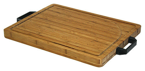 Simply Bamboo Brown Extra Large Carving, Chopping, & Serving Board w/ Artisan-Crafted Heavy Duty Handles 1