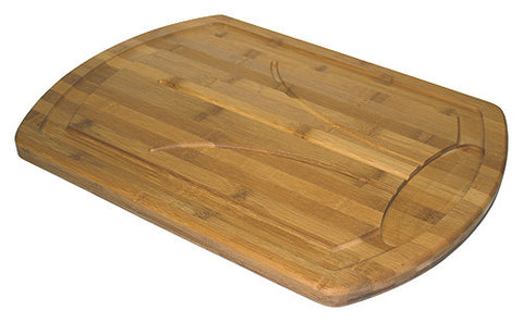 Simply Bamboo Brown Bamboo Carving, Chopping, & Serving Board w/ Juice Grooves 1