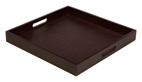 Simply Bamboo 16 X 16 Espresso Brown Bamboo Wood Square Serving Tray