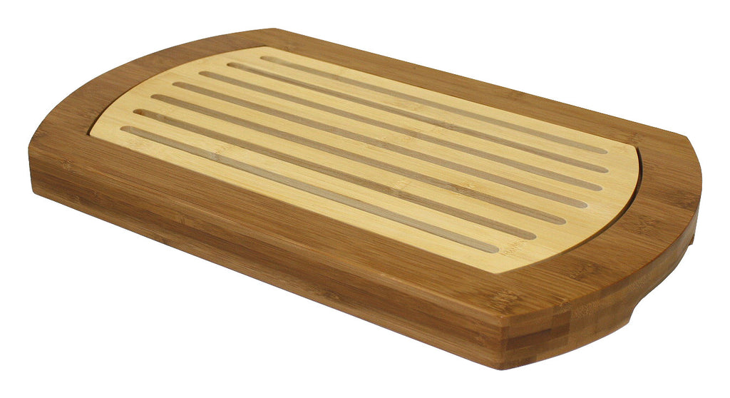 Simply Bamboo Multi-Purpose Two-Tone Bamboo Crumb Tray / Cutting Board / Serving Tray 1