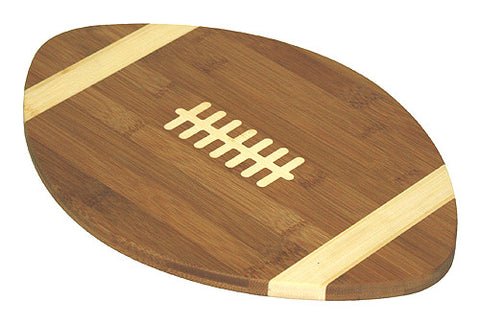 Simply Bamboo Brown Bamboo Football Cutting Board 1
