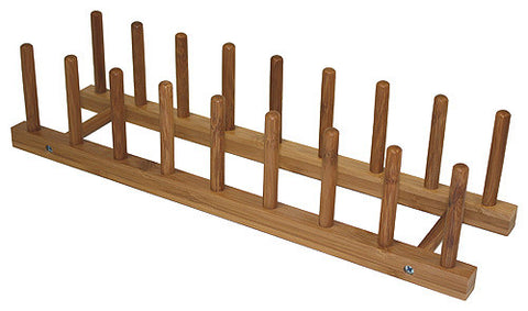 Simply Bamboo Brown Plate Rack 1